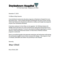 Doylstown Letter