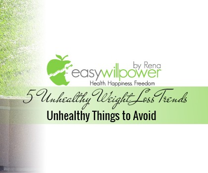 Unhealthy Things to Avoid When Losing Weight