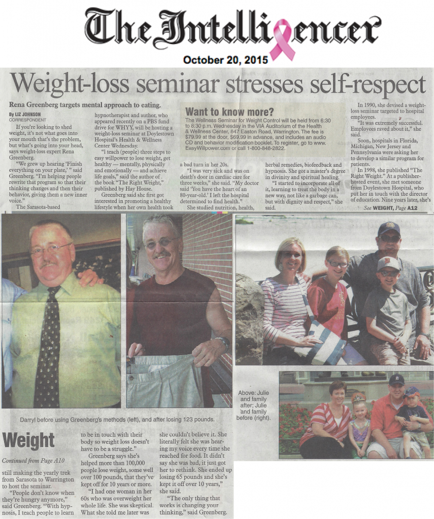 weight loss teaches self respect