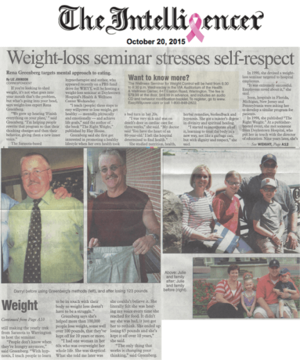 weight loss teaches self respect