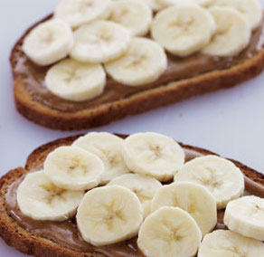 Almond Butter & Banana healthy breakfast recipe
