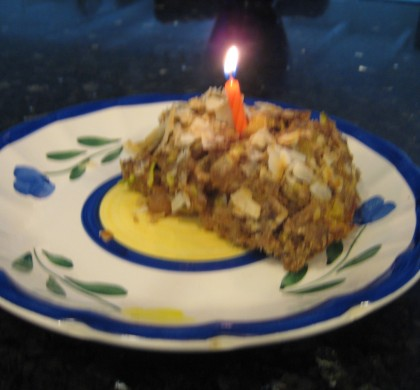 healthy birthday zucchini cake
