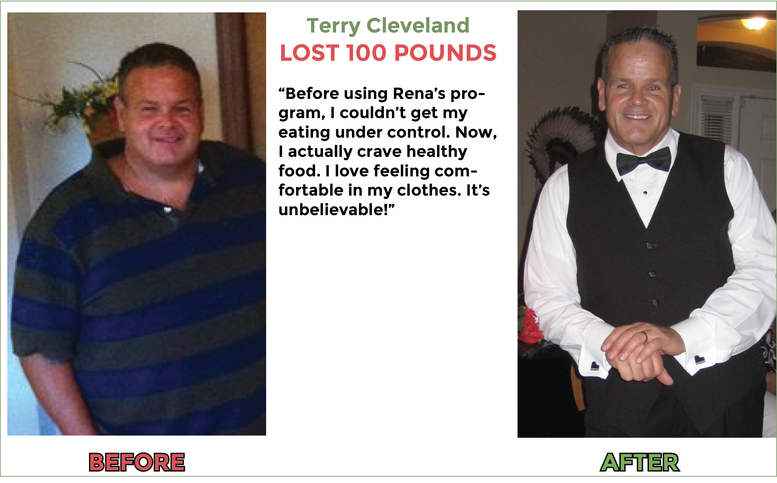 Terry loses 100 lbs with gastric bypass hypnosis