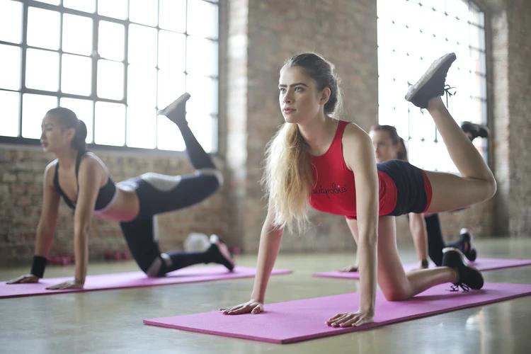 Aerobics exercise class