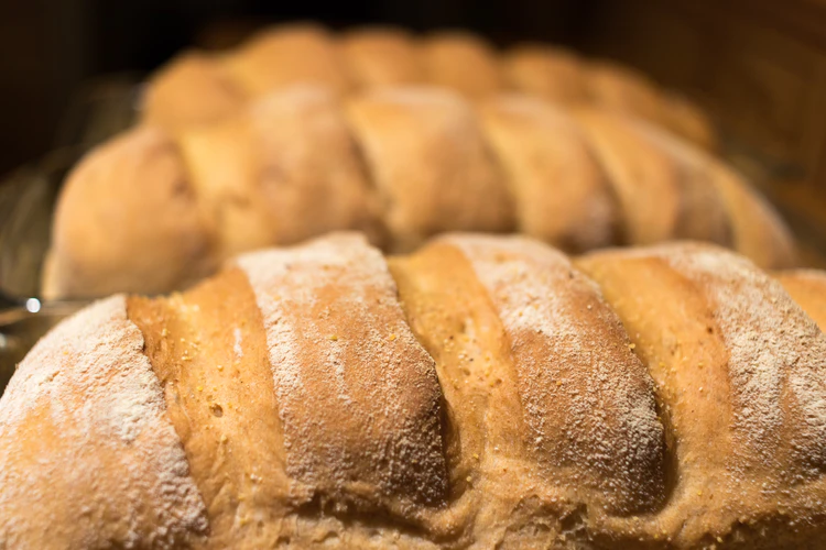 Homemade bread packed with carbs.