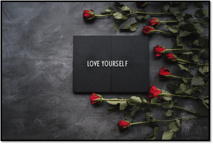A reminder to love yourself and improve