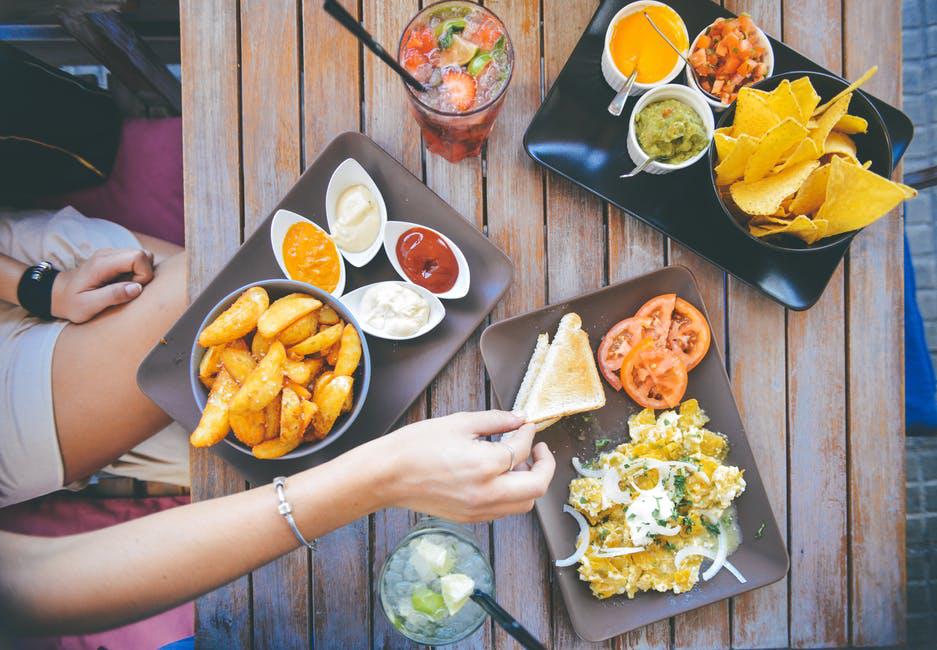 food and salad