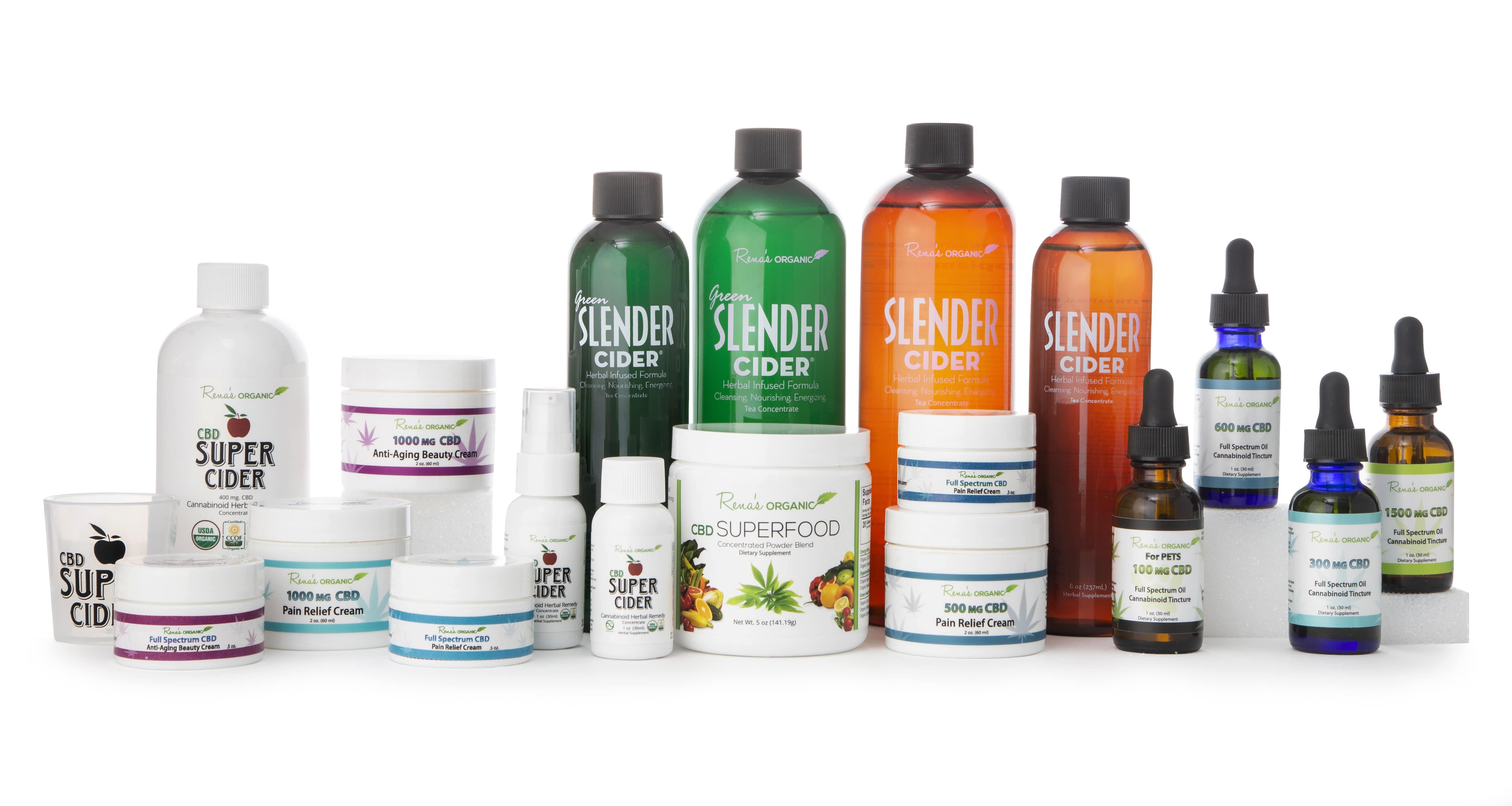 Rena's Organic CBD product line