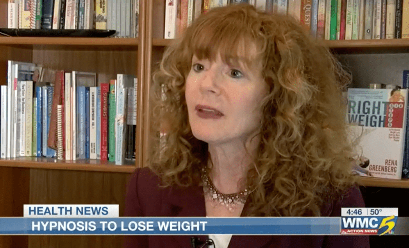 Rena on TV for weight loss hypnosis success