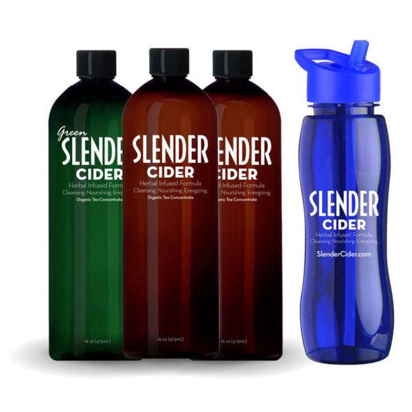 slender cider with drinking bottle