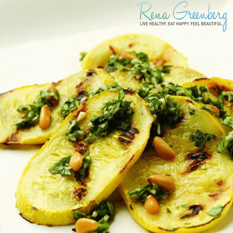 squash, spinach and pine nuts